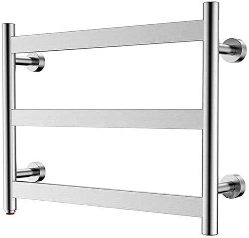 Toallero de baño, 3 barras planas, secado de pared, enchufable en la pared, calefactor de baño, pulido de espejo, protege durante este período especial, Plug en el rack de la toalla.