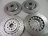Maserati Quattroporte GTS front rear brake rotors set 4pcs...