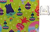 POG Family Paper Birthday Party Christmas Wrapping Trolls Poppy Gift Wrap (Bonus Exclusive Jiggy Joggie) Greetings 1 Roll Design Holiday Festive 20 Feet or Any Special Occasion