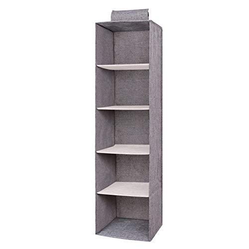 Zum Aufhängen Kleidung Aufbewahrungsbox Hängeaufbewahrung mit 3/4/5 Böden Baumwolle Schublade Organizer zum Aufhängen Kleiderschrank Aufbewahrung Organizer