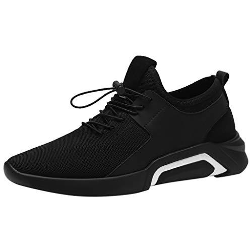 Transwen - Zapatillas de Senderismo para Hombre, cómodas, Transpirables, Deportivas, Antideslizantes, Modernas, para Correr, Fitness, Color Blanco, Talla 44 EU