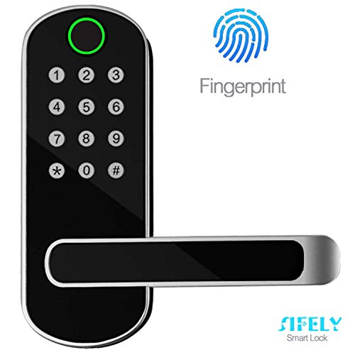 Sifely Keyless Entry Door Lock, Keypad Door Lock, Keyless Door Lock, Fingerprint Door Lock, Biometric Door Lock, Keypad Entry Door Lock, Passcode Code Door Lock, Digital Smart Door Lock (Smart Lock)