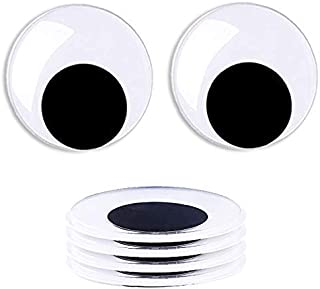 FINGOOO 5inch Big Black Googly Wiggle Eyes with Self-Adhesive for Handmade Crafts Decorations,4 Sets
