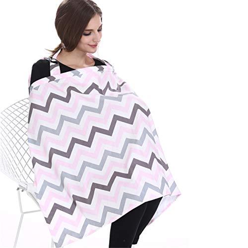 ZXL Stilltücher & -schals Stillende Abdeckung mit verstellbarem Gurt Baumwolle - Gebundener Stillbezug - Outdoor Fütterung Baby-Stilltuch inkl. Aufbewahrungstasche & Handtuchecken,1