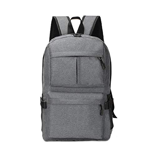 QXJTX High capacity 24 Liters Multifunctional USB Charging Backpack 15 Inch Laptop Bag Travel Camping Handbag Mountaineering Bag Travel mountaineering (Color : Gray)
