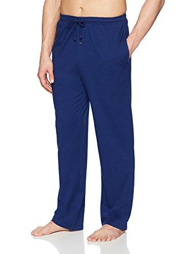 Amazon Essentials Men's Knit Pajama Pant, Blue, Medium
