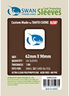 Swan Card Sleeves (62x90mm) - 160 Pack, Thin Sleeves - Tanto Cuore
