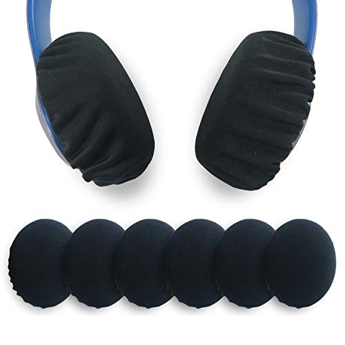 """Xklmb 3 Pairs Stretchable Fabric Headphone Covers/Washable Sanitary Ear pad,Earcup Earpad Covers Fit Most On Ear Headphones 8-11cm(3.14"""" - 4.33"""") Earpads"""
