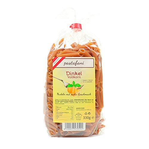 pastafani Dinkel-Vollkorn Penne 330g - Leckere Nudeln mit dem Natur-Geschmack von Urgetreide. Regionale Pasta-Fusilli aus natürlichen, qualitativ hochwertigen Zutaten ohne Aroma- oder Zusatzstoffe!