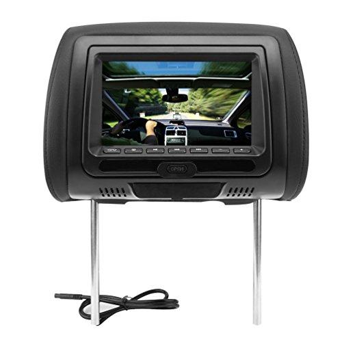 Universal 17,8cm Kopfstütze Auto DVD-Player schwarz Monitore mit IR-Sender