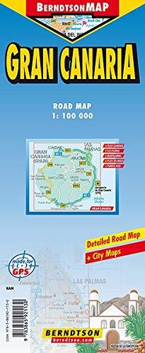 Preisvergleich Produktbild Gran Canaria 1: 100 000 +++ Islas Canarias,  Las Palmas,  Maspalomas,  Playa del Inglés,  Puerto Rico,  Time Zone (BerndtsonMAP) (Road Map / Landkarte) [Folded Map / Faltkarte]