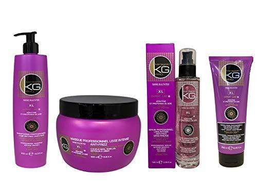 KERAGOLD PRO - Pack Ultime Expert Liss XL - Sans Sulfates à La Keratine & Protéine de...