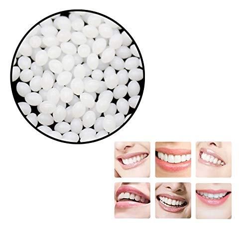 Sayla Ersatz-Thermoklebe-Montageperlen für künstliche Zähne Vampirzähne Klebstoff Kleber Falsche Zähne Feste Kleber Zahnreparaturharz Dental Provisorisches Kunstharz, Zähne und Lücken (20ml)