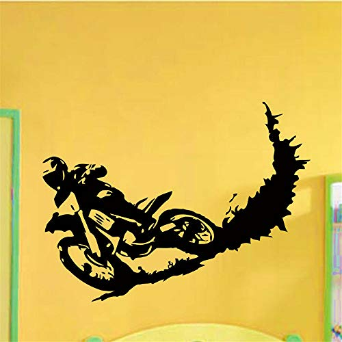 lyclff Calcomanías de Vinilo de Pared Motocross Dirty Bike Moto Bike Decal Sticker Home Decor72 * 96 cm