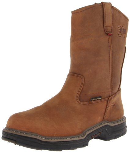 WOLVERINE Men's Marauder Rubber Wellington-M, Brown, 10 XW US