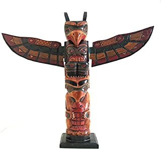 OMA Totem Pole Native American Northwest Wood Totem - Health,Luck and Fortune, Brand
