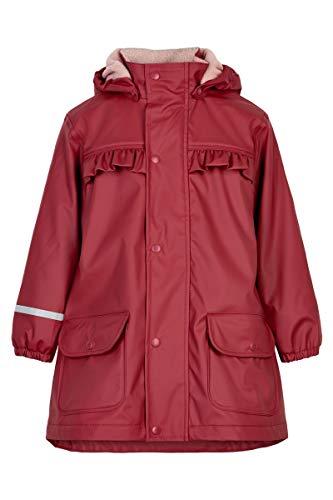Celavi Mädchen Raincoat with Fleece Regenjacke, Rio Red, 100