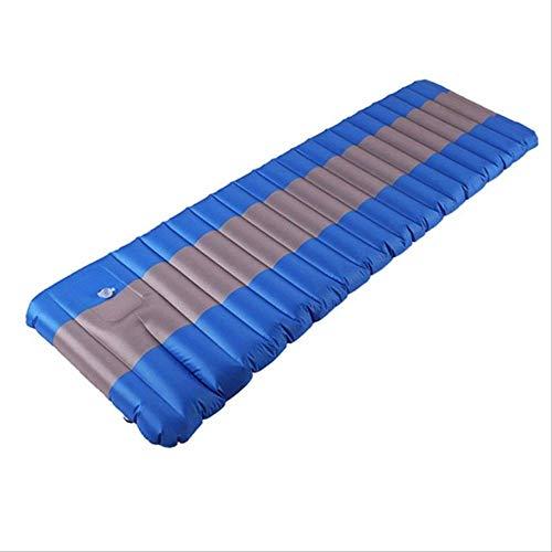 Générique 12 cm Matelas pneumatique Tente de Camping Matelas Gonflable lit d'air imperméable à l'eau en Plein air Tapis de Camping ultraléger Coussin de Couchage Portable Bleu et Gris
