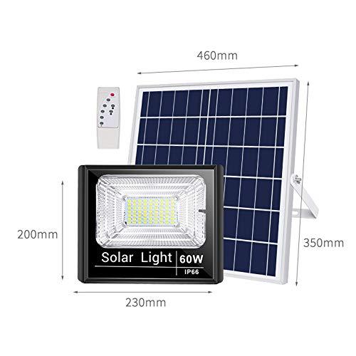 H-XH Solar buitenspot met afstandsbediening, schemering tot schemering super heldere veiligheidslichten IP66 waterdicht, 6000 K buitenstraatverlichting voor terras, schuren