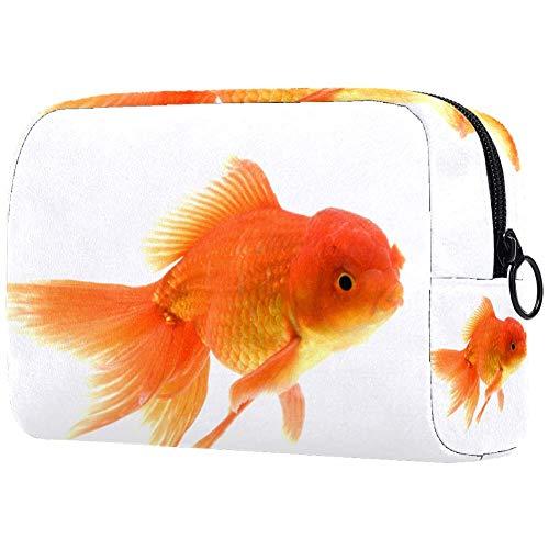 Gold Fish Neceser Cepillo de maquillaje Bolsa de transporte Gimnasio Bolsa de...