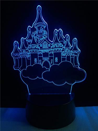 Aspetto Del Castello Di Fantasia 16 Colori Tavolo Lamp, Notturna Lampada Ragazza Lampeggianti Ragazzi Tocco Regalo Lampade Touch Luce Lampada Creativo Decorativa Illuminazione Famiglia Dimmerabile Tav