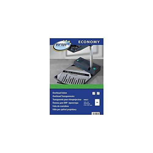 AVERY Zweckform europe100 90921 Overheadfolie für Laserdrucker und Kopierer, DIN A4, 100 Blatt, transparent