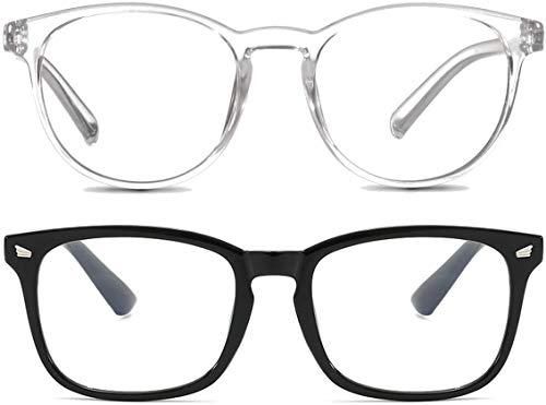 2 Occhiali Luce Blu – Anti-abbagliamento | Unisex | Anti-riflesso | Anti-affaticamento | Per Uso di Dispositivi Digitali