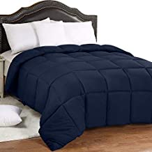 Utopia Bedding All Season 250 GSM Comforter - Soft Down Alternative Comforter - Plush Siliconized Fiberfill Duvet Insert - Box Stitched (King/Cal King, Navy)