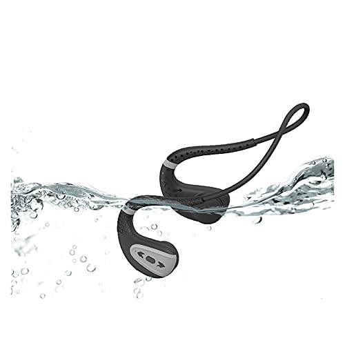 WQMA 2021 Auriculares De Nueva Conducción IPX8 Impermeable A Prueba De Agua Auriculares Bluetooth Bluetooth MP3 Player Deporte Auricular 16G Memoria Buceo Correr Compatible con Todo El Teléfono,E