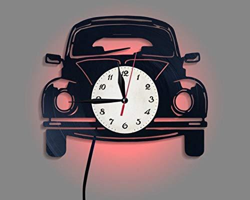 gunchkb analoge wandklok, zeven kleurvarianten, auto retro wandklok
