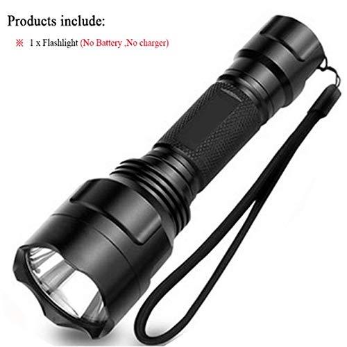Sans batterie, CREE XML T6 3800 lm : lampe torche LED C8 4200 lumens CREE XM Q5 T6 L2 lanterna lampe torche LED camping randonnée extérieur lampe torche 68