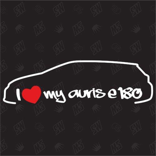 speedwerk-motorwear I Love My Auris E180 Kombi - Sticker für Toyota - Bj. 2013-2015