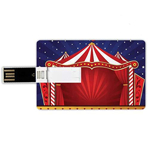 64GB Forma de Tarjeta de crédito de Unidades Flash USB Circo Rojo por Estilo de...