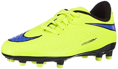 Nike Unisex-Kinder Hypervenom Phelon FG JR 599062 Fußballschuhe, Gelb (Volt/Persian Violet-Black 758), 33.5 EU