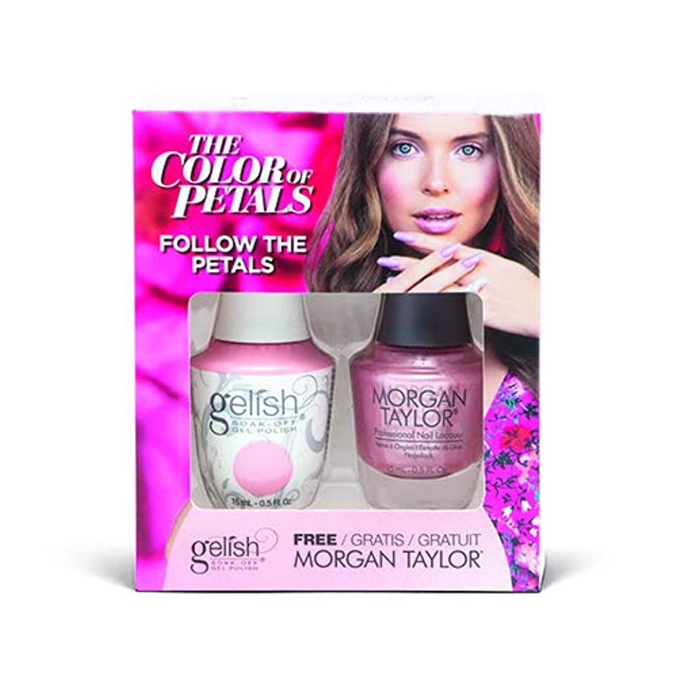盟主残る部屋を掃除するHarmony Gelish - Two Of A Kind - The Color Of Petals - Follow The Petals - 15 mL / 0.5 Oz