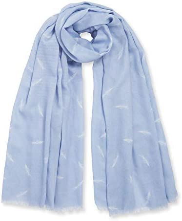 Katie Loxton Beautiful Dreamer Womens One Size Fits Most Boxed Sentiment Scarf in Powder Blue