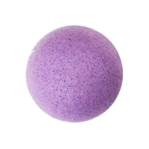 sharprepublic Puff De ge Facial Facial D'éponge De Konjac Naturel Pour Le Soin De Peau De Nettoyage Profond - Violet