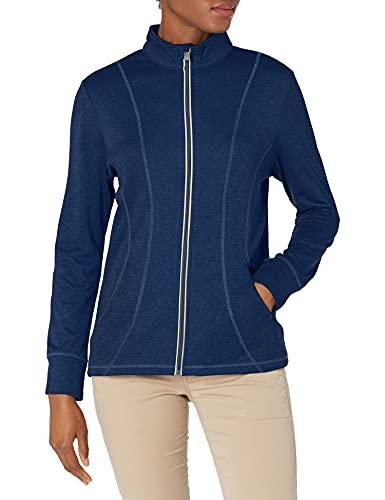 Callaway Veste polaire gaufrée à fermeture éclair pour femme - Bleu - Large