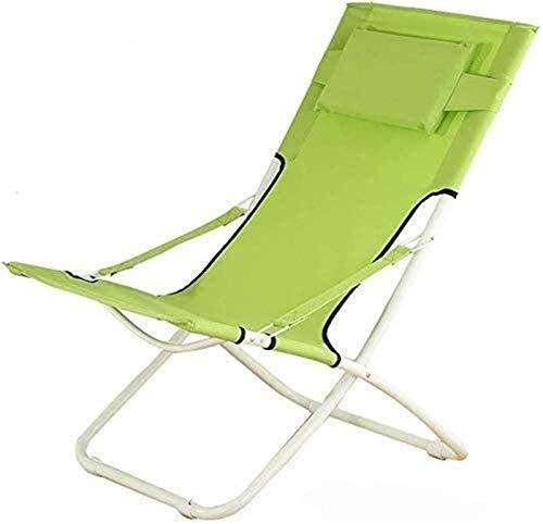 L&B-MR Sillones reclinables, sillones, sillas, balcón, casa de ocio, silla perezosa, silla luna, silla individual, tumbona (color: paño naranja y azul, tamaño: 636589cm)