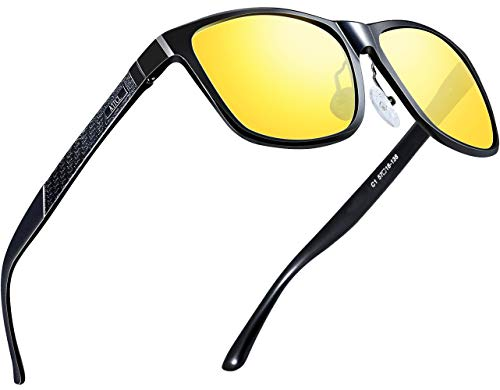 ATTCL Men's HD Night Time Driving Glasses Sunglasses Al-Mg Metal Frame Ultra Light 8587 Yeshi