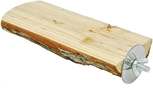 止まり木りんごの木 パーチ インコ オウム 自然木 鳥 オウム 文鳥 おやすみボード 止まり台 噛むおもちゃ ケージアクセサリー (L:幅7-8cm 長さ18cm 1個入り)