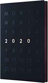 Day Planner 2020 Weekly Monthly A5 Planner 12 Months Faux Leather Softcover Schedule Agenda for Men Black