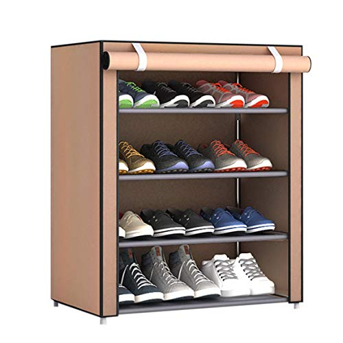 Logicstring Organizador de Zapatero con combinación de múltiples celosías, gabinete de Almacenamiento de Zapatos, Torre, Almacenamiento de Zapatos a Prueba de Polvo con Cubierta de Tela no Tejida