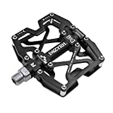 MZYRH Mountain Bike Pedals, Ultra Strong Colorful CNC Machined 9/16' Cycling Sealed 3 Bearing...