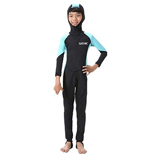 S023 S024 S025 S026 Kind Eendelig Duikpak 2.5mm Surfing Wetsuit jongen met capuchon