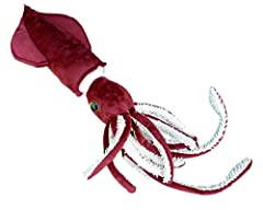 """31"""" total length with tentacles, 15.5"""" body length without tentacles. Plush beak. Hanging loop on the tip. Cute, soft and squeezable. Nicely detailed realistic design. Designed in the USA by Adore Plush Company."""