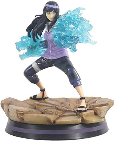 WIJJZY Aoemone Naruto Doble Lion Boxing Hinata Hyuga Anime Figuras Dibujos Animados Juego Carácter Modelo Estatua Modelo Cumpleaños Regalo Estatua Estatua Colección Decoración
