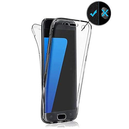 Miagon für Samsung Galaxy S20 Ultra Handyhülle 360 Grad Schwarz Transparent Silikon Etui Full Cover Vorne Hinten Rundum Doppel-Schutz Hülle Case Cover