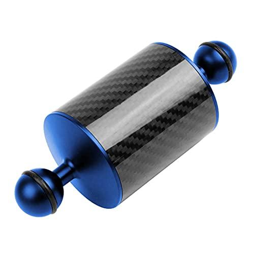 BGNing Brazo acuático de fibra de carbono subacuática de 2,54 cm con doble bola de 110 a 550 g flotante buceo DSLR acción cámara bandeja de extensión (5 pulgadas, azul)