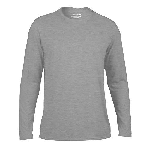 Gildan - T-Shirt Sport à Manches Longues - Homme (3XL) (Gris Sport)